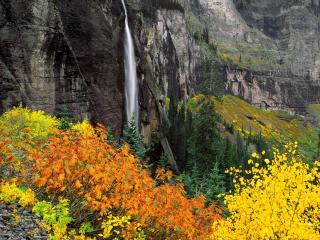 обои Bridalveil Fall, Telluride, Colorado фото