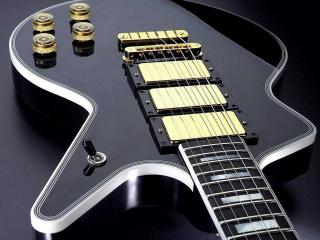 обои Черный корпус гитары фото
