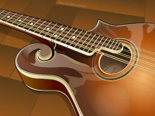 обои Половинка гитары фото