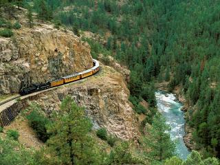 обои Durango & Silverton Narrow Gauge Railroad, Colorado фото