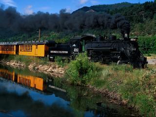 обои Durango & Silverton Narrow Gauge Railroad, Trimble, Colorado фото