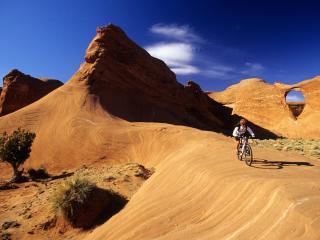 обои Riding the Sandstone, Arizona фото