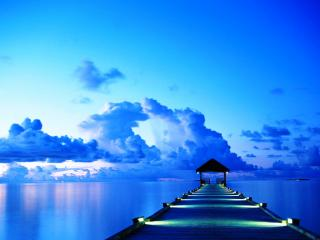 обои Пристань на Мальдивских островах фото