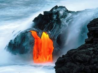 обои Извержение вулкана фото