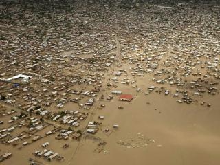 обои Затопленные дома фото