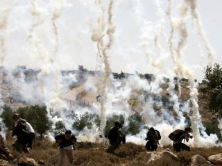 обои Беженцы в пожар фото
