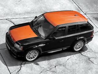обои Range Rover Sport с оранжевой крышей фото