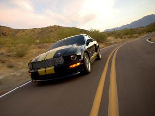 обои Mustang ГТ на трассе фото