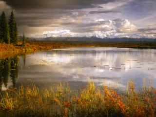 обои Mount McKinley and the Alaska Range, Alaska фото
