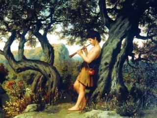 обои Генрих Семирадский - Пастушок, играющий на свирели фото