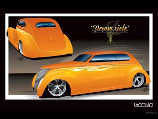 обои Ford Sedan Dreamsicle OZE 37 (1937) фото