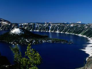 обои Залив в горах фото