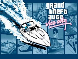 обои Gta vice city - лодка фото