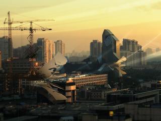 обои Москва на закате фото
