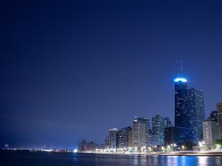 обои Вечер в большом городе фото