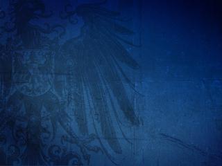 обои Герб на синем фоне фото