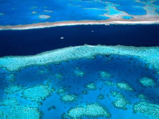 обои Azure Waters, The Great Barrier Reef, Australia фото