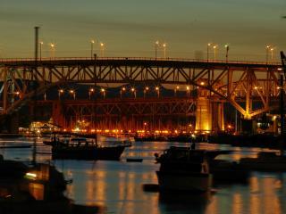 обои Мосты в ночи фото