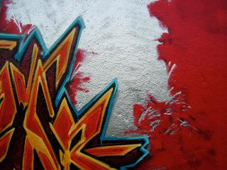 обои Красное граффити фото