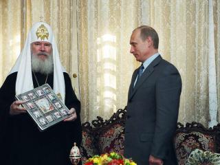 обои В.Путин  и Алексий 2 фото