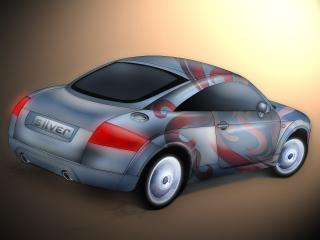 обои Audi TT с аэрографией фото