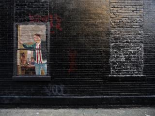 обои Граффити на тематику GTA IV - окно фото
