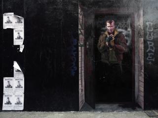 обои Граффити с главным героем GTA IV фото
