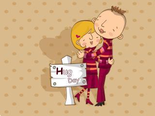 обои Hug Day фото