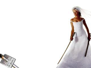 обои Убить Била - девушк в свадебном платье фото