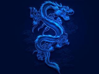 обои Blue Dragon фото