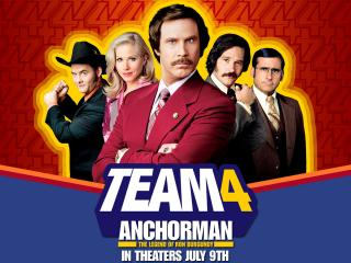 обои Anchorman - The Legend of Ron Burgundy, 2004, Christina Applegate, Will Ferrell фото
