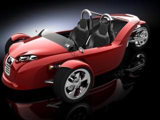обои Красное авто фото