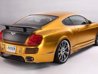 обои ASI Bentley W66 GTS Gold сзади фото