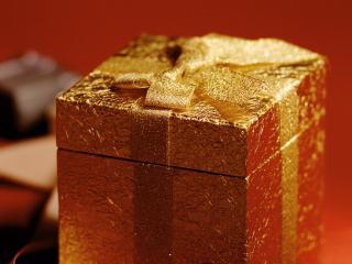 обои Золотой подарок фото