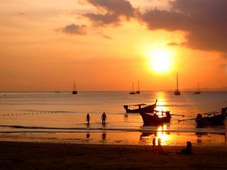 обои Лодки в море, Тайланд фото