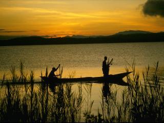 обои Озеро Киву в ДР Конго фото