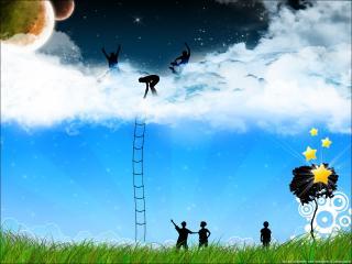 обои Лестница в небо фото