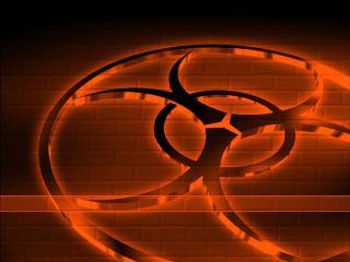 обои Знак радиации угрожающего цвета фото