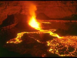 обои Проснувшийся вулкан фото