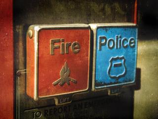 обои Пожар и полиция фото