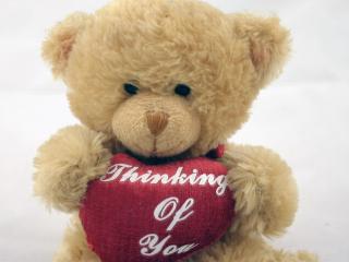 обои Плюшевый медведь - на день Св.Валентина фото
