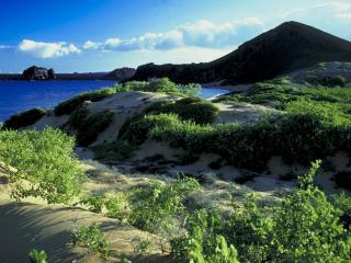 обои Вулканический остров фото