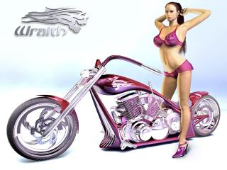 обои Bike Babe Wraith Chopper Concept фото