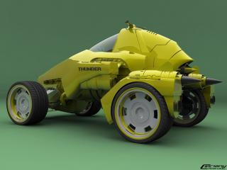 обои Futuristic car фото