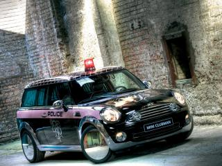 обои Mini Clubman Police фото