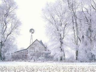 обои Зима на ферме фото