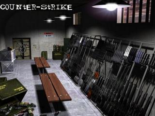 обои Counter-Strike склад с оружием фото