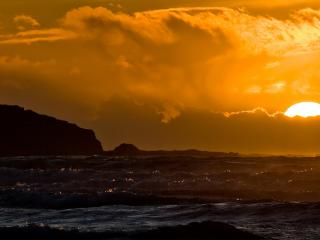 обои Морской закат фото