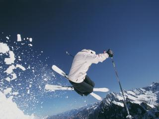 обои Горные лыжи фото