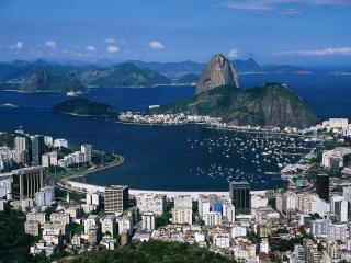 обои Рио - де- Жанейро с высоты птичьего полета фото